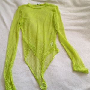 *Free with Purchase* Mesh lime green bodysuit